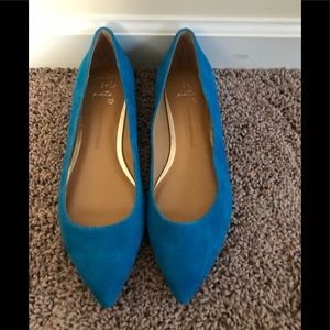 NWOT - Banana Republic Blue Suede Flats